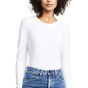 JAMES PERSE Long Sleeve Crew Semi Sheer White S2